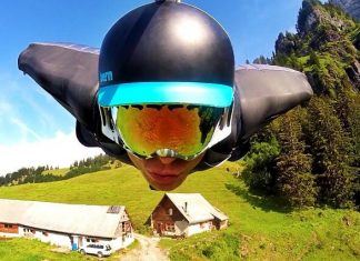 Brandon Mikesell, wingsuit, Suisse falaise
