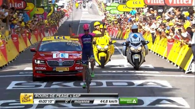 Tour de France: Rubén Plaza gagne à Gap, Sagan encore second !