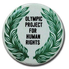 badge, Olympic Project for Human Rights
