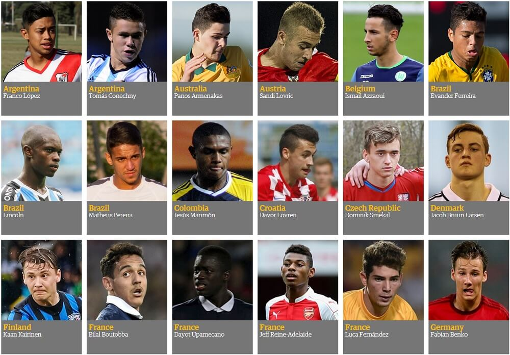 jeunes talents du football