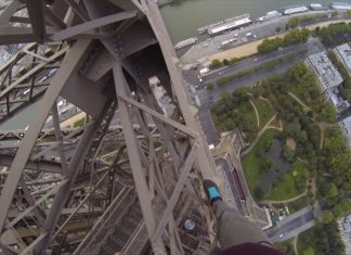 James Kngston, escalade, Tour Eiffel