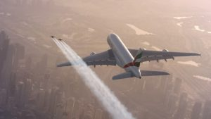 Yves Rossy, jetpack, Airbus A380, Emirates, Dubai
