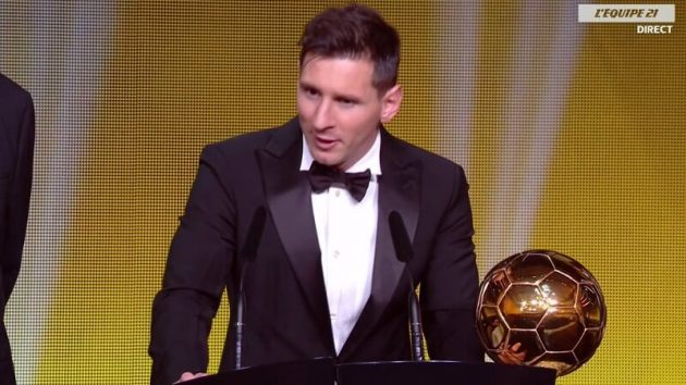 La quinte royale de Lionel Messi au Ballon d'Or